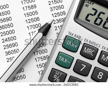 Tax calculation - stock photo