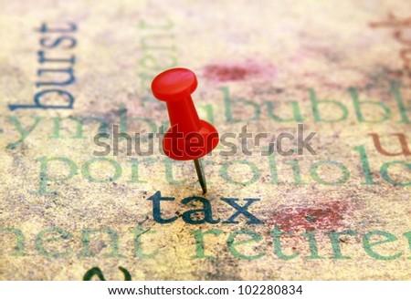 Tax concept - stock photo
