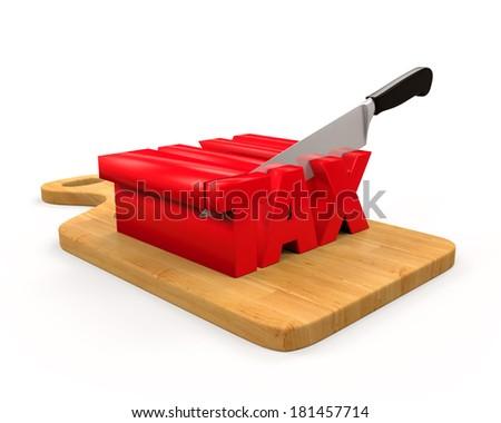 Tax Cut Concept - stock photo