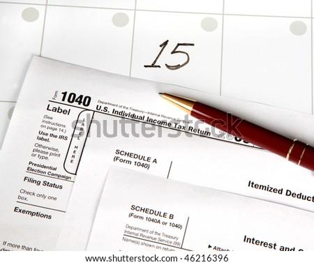 Tax day - stock photo
