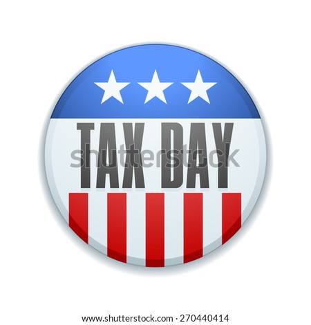 Tax Day sign - stock photo