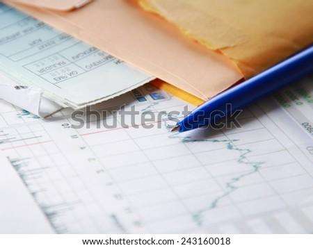 tax documents - stock photo