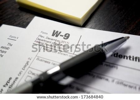 Tax Form - stock photo