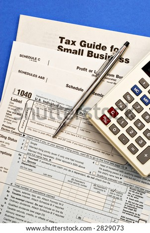 Tax forms with emphasis on Small Business.