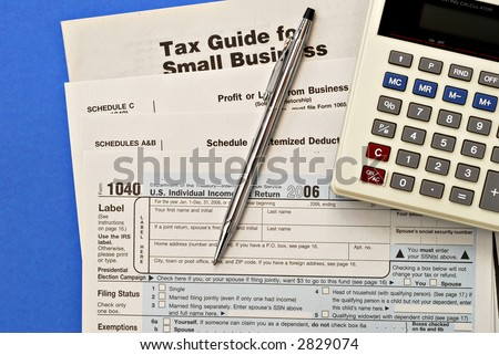 Tax forms with the emphasis on Small Business.