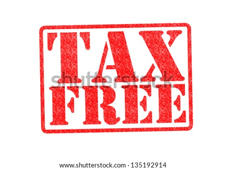 TAX FREE Rubber Stamp over a white background.