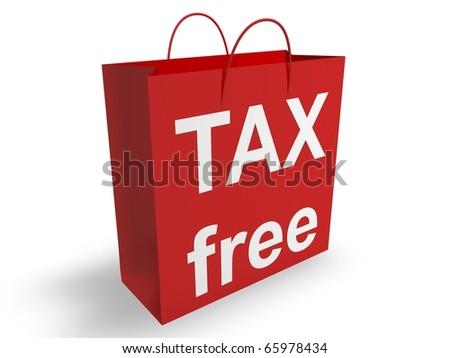 Tax Free Shopping - stock photo
