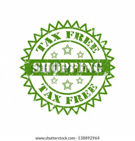Tax Free Shopping Stamp