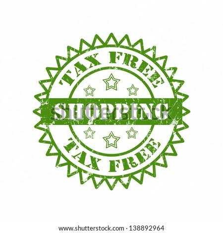 Tax Free Shopping Stamp - stock photo