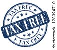 tax free stamp - stock photo