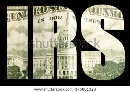 Tax Money, IRS  - stock photo