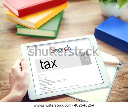 Tax Payment Financial Economy Accounting Concept - stock photo