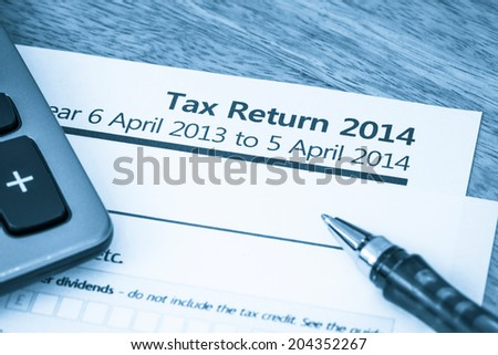 Tax return form 2014
