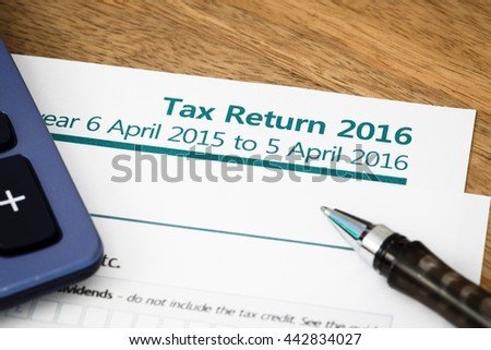 Tax return UK 2016