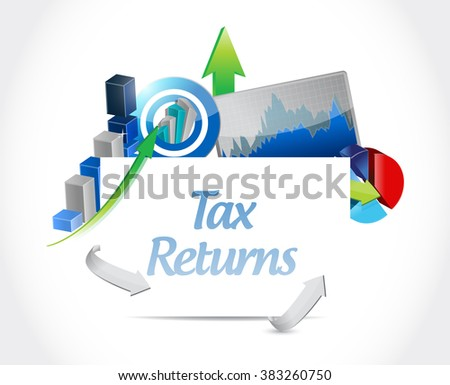 tax returns business graph sign concept illustration design graphic
