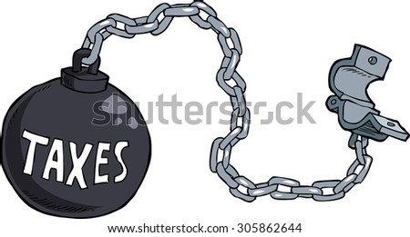 Tax shackles on white background raster version - stock photo