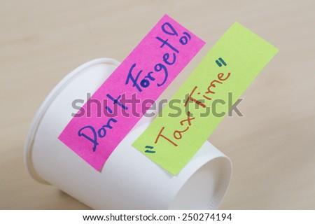 Tax Time written - stock photo