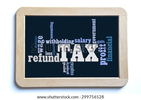 tax word cloud - stock photo