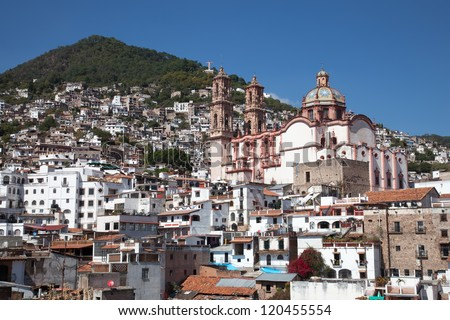 Taxco is a small city located in the Mexican state of Guerrero. - stock photo