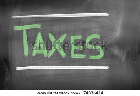Taxes Concept - stock photo