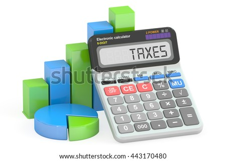 taxes concept, 3D rendering isolated on white background - stock photo