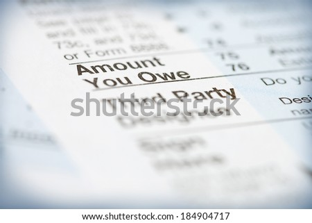Taxes: Focus On Amount You Owe On Tax Form