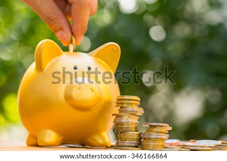 Taxes money ,Save money for prepare for pay tax.  - stock photo