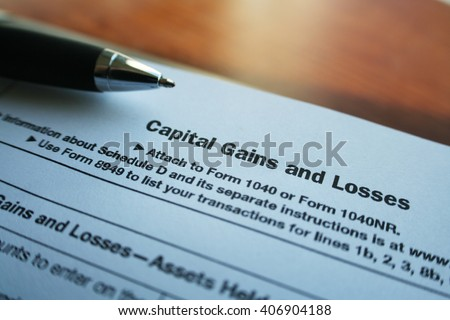 Taxes Stock Photo Capital Gains & Losses Form High Quality