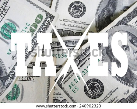 taxes take a bite out of your money concept - stock photo