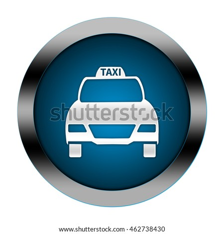 taxi button isolated.