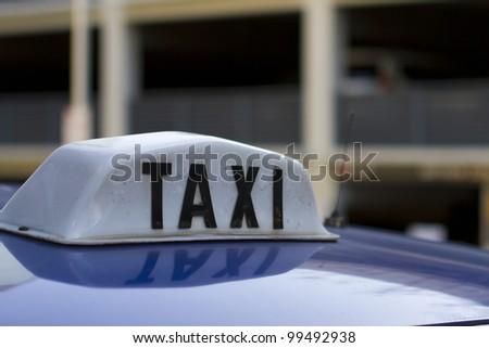 Taxi Cab sign - stock photo