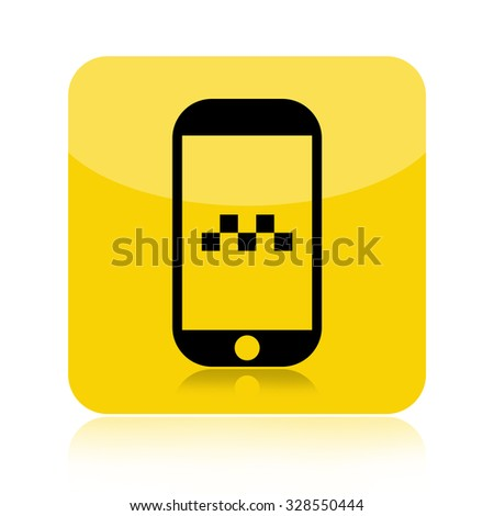 Taxi call icon isolated on white background - stock photo
