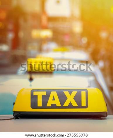 Taxi concept - stock photo