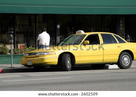 Taxi driver waiting for a passengers