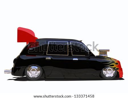 Taxi Hotrod - stock photo