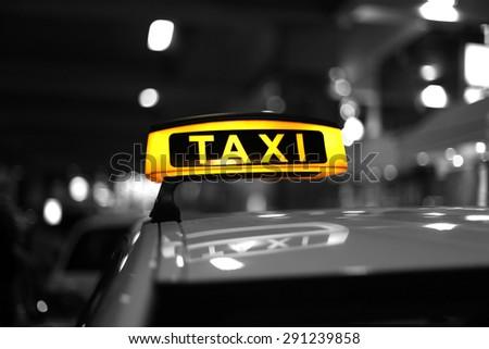 Taxi,Munich  - stock photo