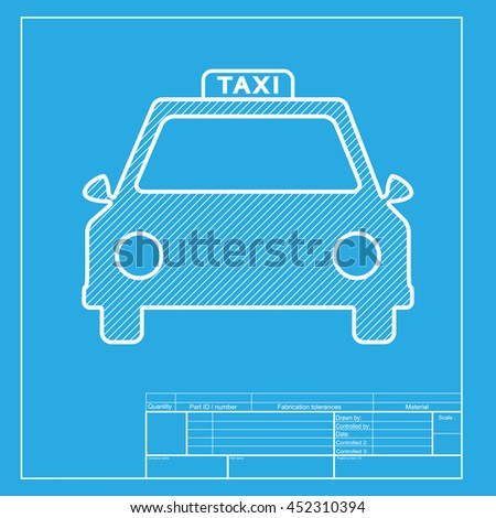 Vector icon car wash blueprint style stock vector 411145738 white section of icon on blueprint template malvernweather Images