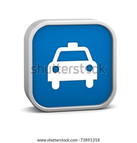Taxi sign on a white background.