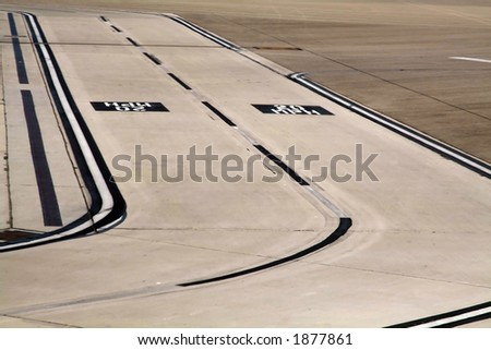 taxiway with a smiling face