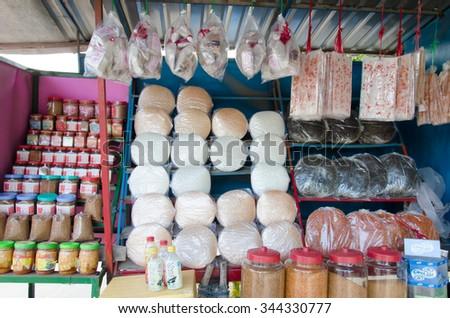TAY NINH, VIETNAM - NOVEMBER 21st 2015: Rice cake shop at Tay Ninh, Vietnam