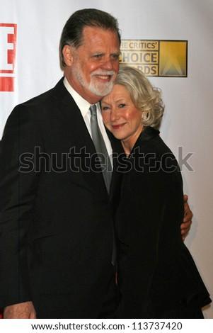 Taylor Hackford and Helen Mirren at the 12th Annual Critics' Choice Awards. Santa Monica Civic Auditorium, Santa Monica, CA. 01-12-07 - stock photo