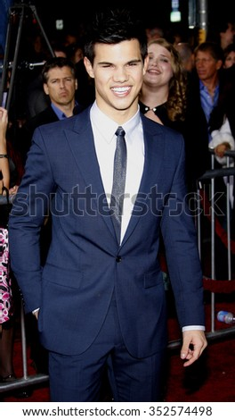 "Taylor Lautner at the Los Angeles Premiere of ""The Twilight Saga: New Moon"" held at the Mann Village Theater in Westwood, California, United States on November 16, 2009."