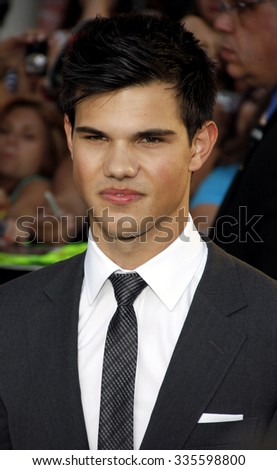 "Taylor Lautner at the ""The Twilight Saga: Eclipse"" Los Angeles Premiere held at the Nokia Live Theater in Los Angeles, California, United States on June 24, 2010."