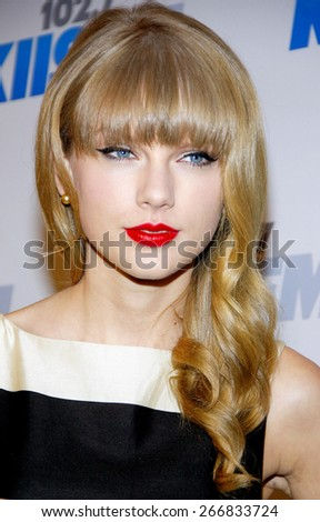 Taylor Swift at the KIIS FM's Jingle Ball 2012 held at the Nokia Theatre LA Live in Los Angeles on December 1, 2012.