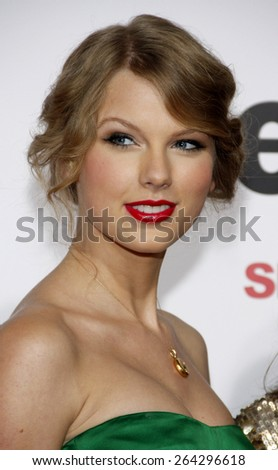 Taylor Swift at the Los Angeles premiere of 'Easy A' held at the Grauman's Chinese Theater in Hollywood on September 13, 2010.  - stock photo