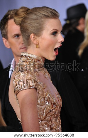 Taylor Swift at the 54th Annual Grammy Awards at the Staples Centre, Los Angeles. February 12, 2012  Los Angeles, CA Picture: Paul Smith / Featureflash - stock photo