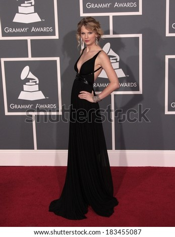 Taylor Swift, wearing a Kaufman Franco gown, at 51st Annual Grammy Awards ,Staples Center, Los Angeles, CA 2/8/2009