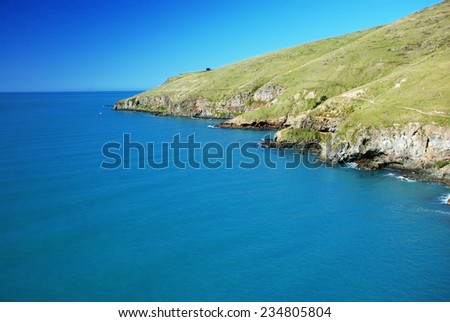 Taylors Mistake Cape, Christchurch, New Zealand. - stock photo
