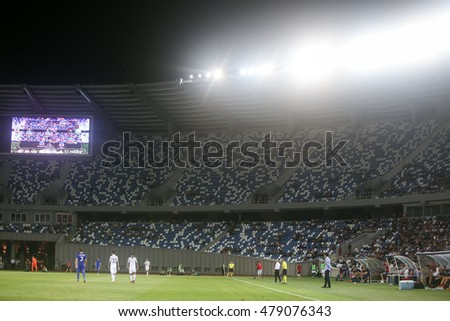 Tbilisi, Georgia - August 18, 2016: Interior view of Boris Paichadze Dinamo Arena during the  UEFA Europa League, first round of the playoffs between Dinamo vs PAOK.