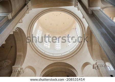TBILISI, GEORGIA - JULY 18, 2014: Interior of the Holy Trinity Cathedral of Tbilisi, the main Cathedral of the Georgian Orthodox Church